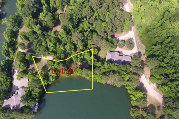 47-Deer-Ridge-Aerial-View-with-boundaries - Waterfront property near houston