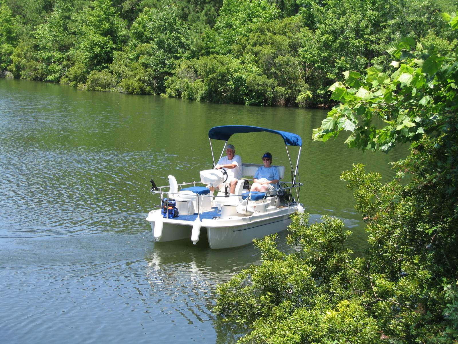 lakefront property, lots and homes - deck boat